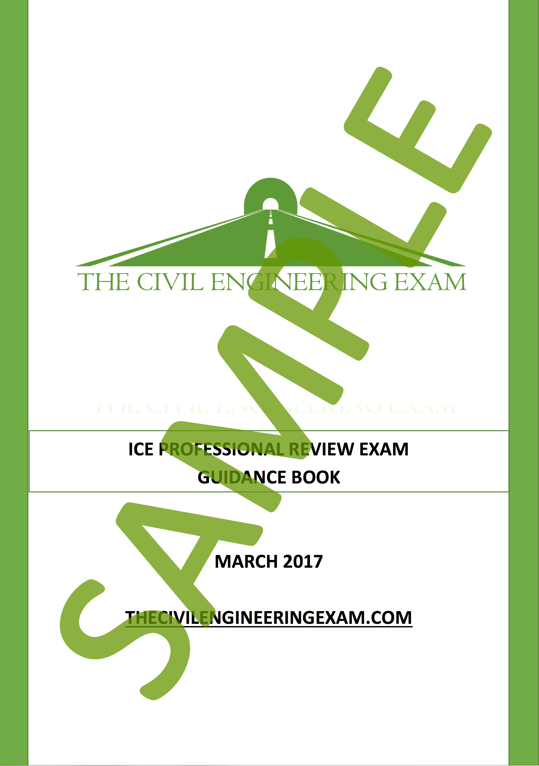 ice professional review exam guidance pack sample  civil engineering exam